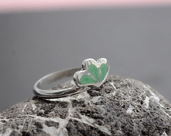 Silver ring with jewelry ennamel.