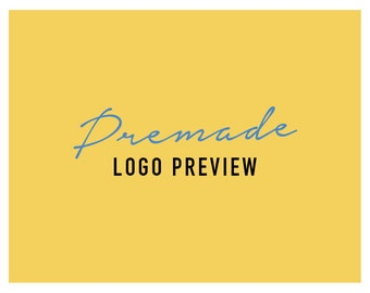 Preview Premade Logo Design, Try before you buy it, Logo Preview, Logo Add-on, Business Logo Design, Premade Logo, Watermark Logo Branding