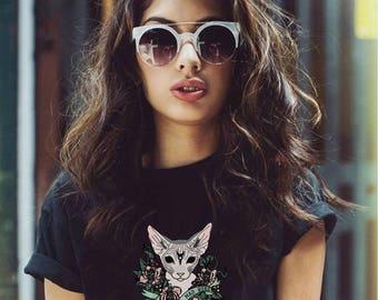 Black Sphynx  Cat T-Shirt