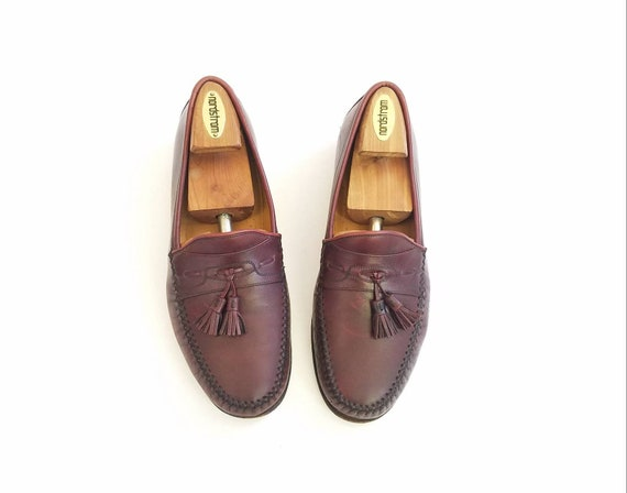 Nordstrom Preppy Shoes Italian wide Oxfords Loafers Mens Dress Leather Maroon Tassel Hipster Fashion Loafers Burgundy Vintage Spring 9 qwfOFnSFt