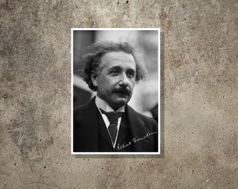 Science art - Albert Einstein - Super Stars of Science poster series
