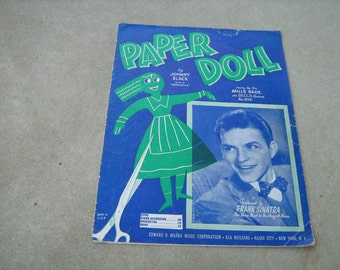 1943   vintage sheet music  (  Paper Doll  )