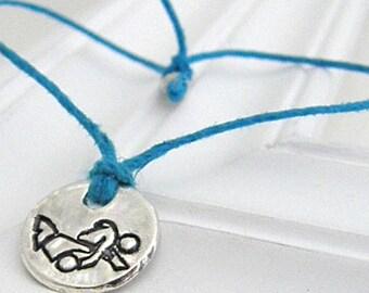 Wrestling Bracelet - Hand Stamped Silver Wish Bracelet on Etsy