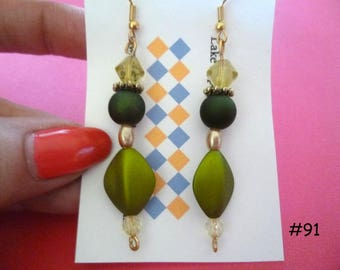 Clearance Sale: Dangle Earrings of all Different Types, Five Different Pairs on Each Listing E91-95