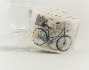 Vintage Bike wide washi tape - Twilight series DIY crafts planner scrapbook mail cute mail - Lillibon