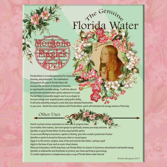 Florida Water Cologne & Label Sheet