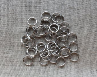 200 Double round rings in stainless steel - 6 x 1.2 mm