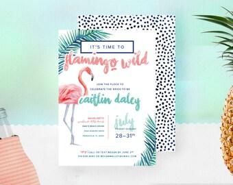 Flamingo Bachelorette Invitations