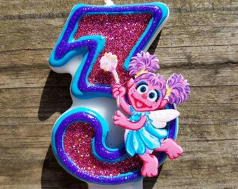 Abby bougie d'anniversaire Cadabby, bougie d'anniversaire Sesame Street