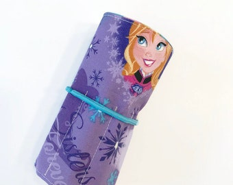 Anna and Elsa Crayon Roll