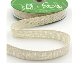 Ivory Open Weave Ribbon 25 Meters Christmas Gift Wrapping Ribbon Full Spool