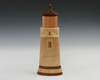 Umpqua Lighthouse Intarsia Myrtlewood Wood Wall Decor
