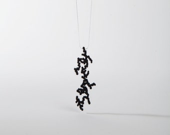 """Dendritas with 20"""" sterling silver chain."""