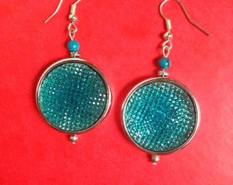 faceted turquoise stone earrings