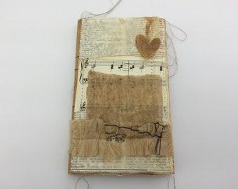 Shabby Scrappy Journal, 5 x 7 Junk Journal, Tea Dye Journal, Mini Album, Photo Album, Vintage Journal,