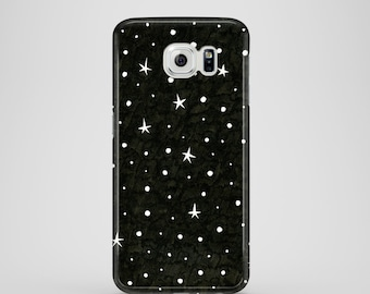 B&W Stars phone case / iPhone case / Samsung Galaxy S7, Samsung Galaxy S6, Samsung Galaxy S6 Edge, Samsung Galaxy S5 / constellation case