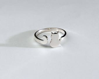Cat Tail Sterling Silver Ring