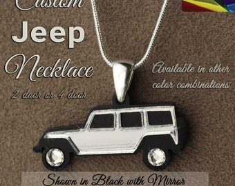Jeep Wrangler Pendant Necklace Set - Customizable
