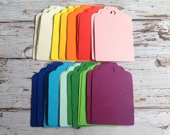 Gift tags,25 coloured tags, price tags,mixed colours, coloured cardstock tags, gift wrapping,