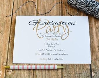Graduation Party Invitation / Graduation Announcement / Class of 2016 / Fancy Grad Party Invitation / Graduation Party Invite / Grad Party
