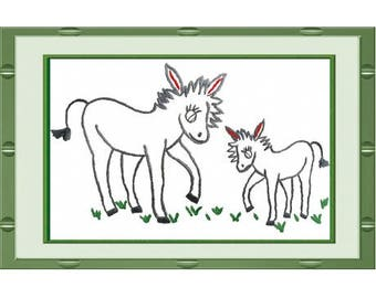 Traditional Embroidery Kit: donkey