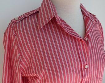 Vintage Red Striped Passant Long Sleeve Shirt Joske's