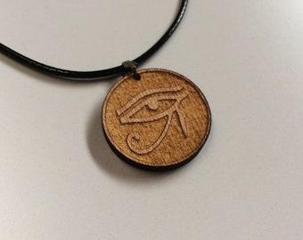 Carved Egyptian Eye of Horus symbol Necklace Mens Womens Pendant egypt