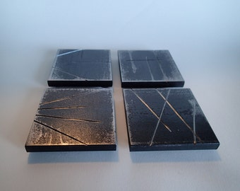 Hand Forged Iron Coasters - Set of Four - Urban