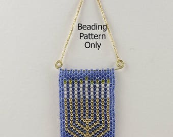 Peyote Stitch Beading Patterns for Hanukkah