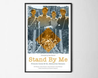 Stand By Me - Alternative Film Poster // Wall Poster // Home Decor // Office Art