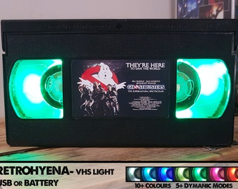Retro VHS Tape Nightlight - GhostBusters ~ Custom made Film/TV/Character Gifts - Requests welcome!