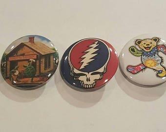 Grateful Dead Buttons  (5 pack)
