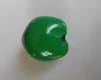 Set of 2 beads seed Lumbang dark green