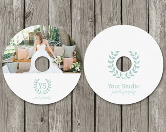 CD Label Template - Wedding Photography DVD Labels - Personalized Photo CD Favor - CL03