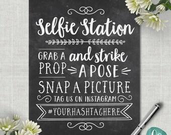 Tafel Selfie Station Zeichen / Wedding Photo Booth Zeichen / Instagram Hochzeit Zeichen druckbare Hochzeit Foto Requisiten / Hochzeit druckbare Zeichen