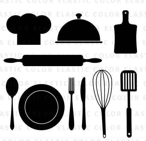 kitchen svg kitchen utensils clipart restaurant clip art rh etsy com vintage cooking utensils clipart vintage cooking utensils clipart