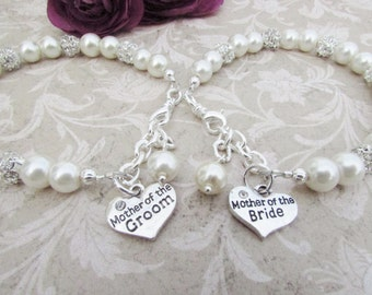 Mother of the Bride Bracelet Mother of the Groom Mother of the Bride Bracelet Bridesmaid Jewelry Bridal Party Jewelry Mother of Bride Gift