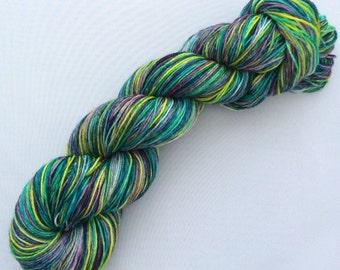 Tropical Fish - hand dyed yarn 3.5 oz 437 yds