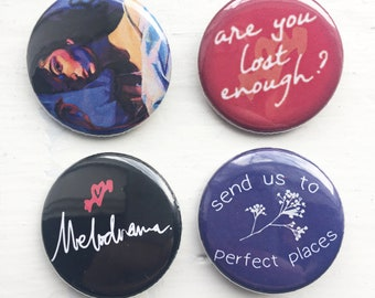 Lorde: Melodrama - Set of (4) 1.25 in. pinback buttons