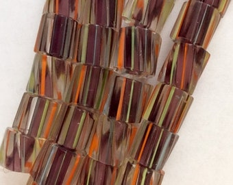 HALF PRICE SALE Multicolored Cane Beads 10 mm x 10 mm x 10 mm 19 Beads