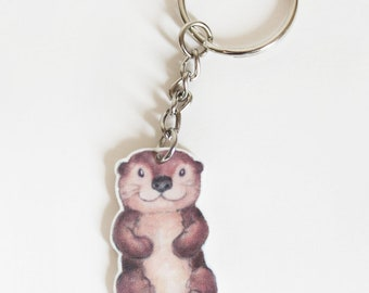 Otter animal keyring