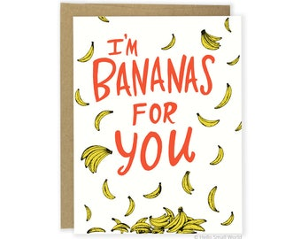 Pun Card, Funny Love Card, Funny Anniversary Card, Food Pun Card, Funny Boyfriend Card, Husband Card, Wife Card, Girlfriend Card, Punny Card