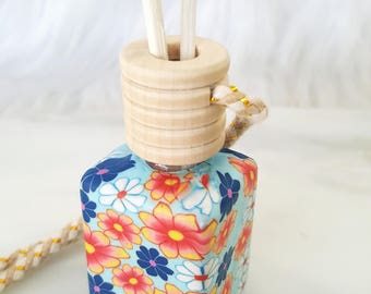 Mini Diffuser - Car Freshener - Aromatherapy - Essential Oil Blend - Approx. 1/2 ounce oil - Polymer Clay - Hanging Diffuser