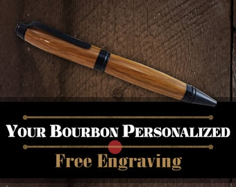 Authentic Jim Beam Barrel Pen - American Oak Wood Writing Pen - FREE Engraving