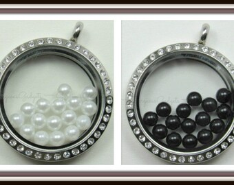 4mm Pearl Floating Charm for Glass Locket / Floating Locket