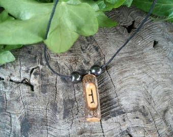 Ogham Birth Pendants – Hawthorn – Wood – Ogham – Pendant – Necklace – Druid -  Pagan – Celtic – Witchcraft – Gift for Men – Gift for Women
