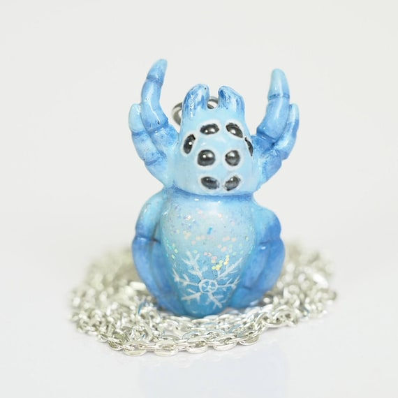 WINTER SPIDER - Handmade Polymer Clay Necklace