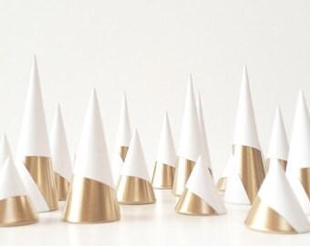 Ringholderset White-Gold Edition  Ringhouder Accesoire Sieraden display Organiser Ringorganiser Wedding gift