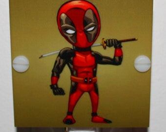 Deadpool Movie Night Light Hand Made With LED and Free Shipping