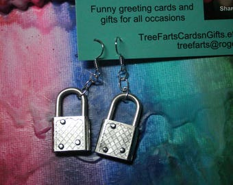 Recycled Locks Earrings